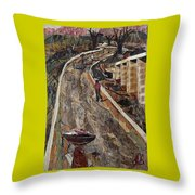 Cross-country Road Throw Pillow