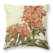 Crossandra Throw Pillow