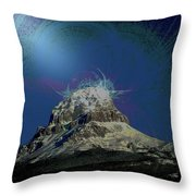 Crowsnest Mountain  Throw Pillow