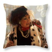 One Thousand And One Dalmatians Cruella Deville  Throw Pillow