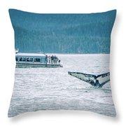 Cruise Ship Pier 91 In Seattle Washington Throw Pillow