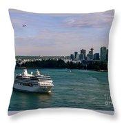 Cruise Ship 5 Throw Pillow