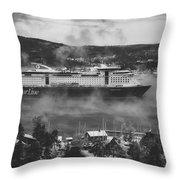 Cruising Into Port Throw Pillow