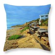 Crystal Beach Throw Pillow