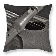 Cuatro Guitar And Flute Throw Pillow
