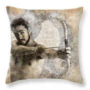 Cupid The God Of Desire 5 Throw Pillow
