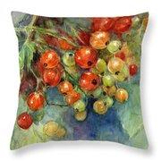 Currants Berries Painting Throw Pillow by Svetlana Novikova