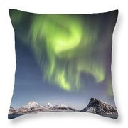 Curtains Of Light Throw Pillow