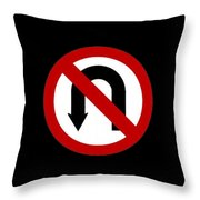 Curve T-hirtj Throw Pillow
