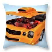 Custom Muscle Car Throw Pillow
