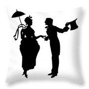 Cut-paper Silhouette Throw Pillow