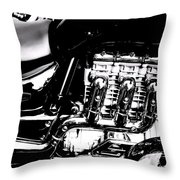 Cycle Abstract Throw Pillow
