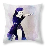 Cyd Charisse, Actress And Dancer Throw Pillow