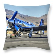 Czech Mate Engine Start Sunday Afternoon Gold Unlimited Reno Air Races Throw Pillow