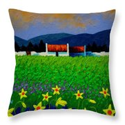 Daffodil Meadow Throw Pillow