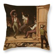 Dance Of The Haymakers Throw Pillow