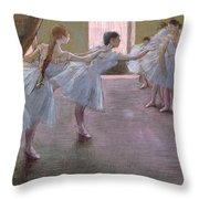 Dancers At Rehearsal Throw Pillow