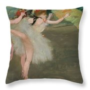 Dancers In White Throw Pillow
