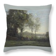 Dancers Of Castel Gandolfo Throw Pillow