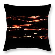 Dancing Light At Sunrise Three  Throw Pillow
