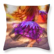 Dancing To The Drums Throw Pillow