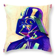 Darth Vader Throw Pillow by Kyle Willis