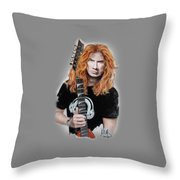 Dave Mustaine Throw Pillow