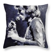 David Bowie By Mary Bassett Throw Pillow