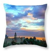 David Tower At Sunset  Throw Pillow