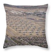 Davis-monthan Air Force Base Airplane Throw Pillow