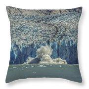 Dawes Glacier Calving #1 Throw Pillow