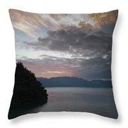 Dawn At Casa De Mundo Lake Atitlan 1 Throw Pillow