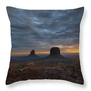 Dawn At Monument Valley Throw Pillow