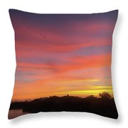 Colorful Dawn Of A New Day  Throw Pillow