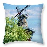De Zwaan Windmill Throw Pillow