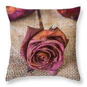 Dead Rose Throw Pillow