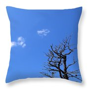 Dead Tree And Two Clouds Throw Pillow