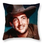 Dean Martin By John Springfield Throw Pillow