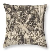 Death Of The Virgin Throw Pillow