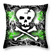 Deathrock Skull Throw Pillow