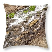 Decorah Iowa Waterfall Throw Pillow