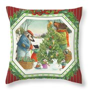 Decorating The Tree Throw Pillow