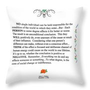 Decree Throw Pillow