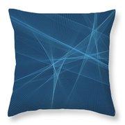 Deep Sea Computer Graphic Line Pattern Throw Pillow