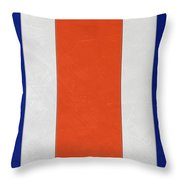 Denver Broncos Helmet Art Throw Pillow