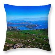 Derrynane Harbour, Caherdaniel, Ring Of Throw Pillow