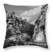 Desert Mountain Drive Throw Pillow