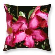 Desert Rose   Adenium Obesum Throw Pillow