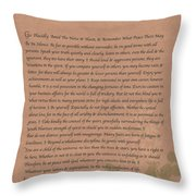 Desiderata 9 Throw Pillow