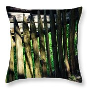 Detail Of An Old Wooden Fence Throw Pillow
